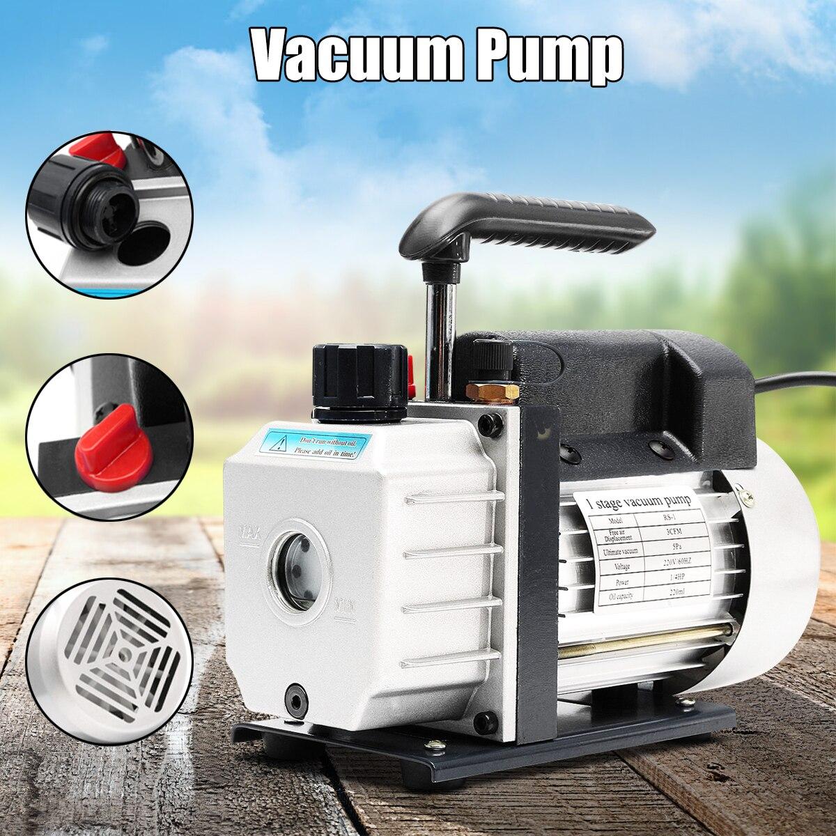 220 V 180 W 60 HZ 3CFM pompe à vide climatisation ajouter fluorure outil pompe à vide ensemble réfrigérant table réfrigérant tube