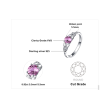 Created Pink Sapphire Celtic Knot Sterling Silver Ring Jewelry