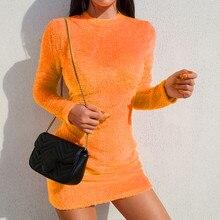 1e7f727a6e9e Fashion Women Stand Neck Velvet Tight Dresses Sexy Solid buttocks Mini  Bodycon Dresses Evening Party Club
