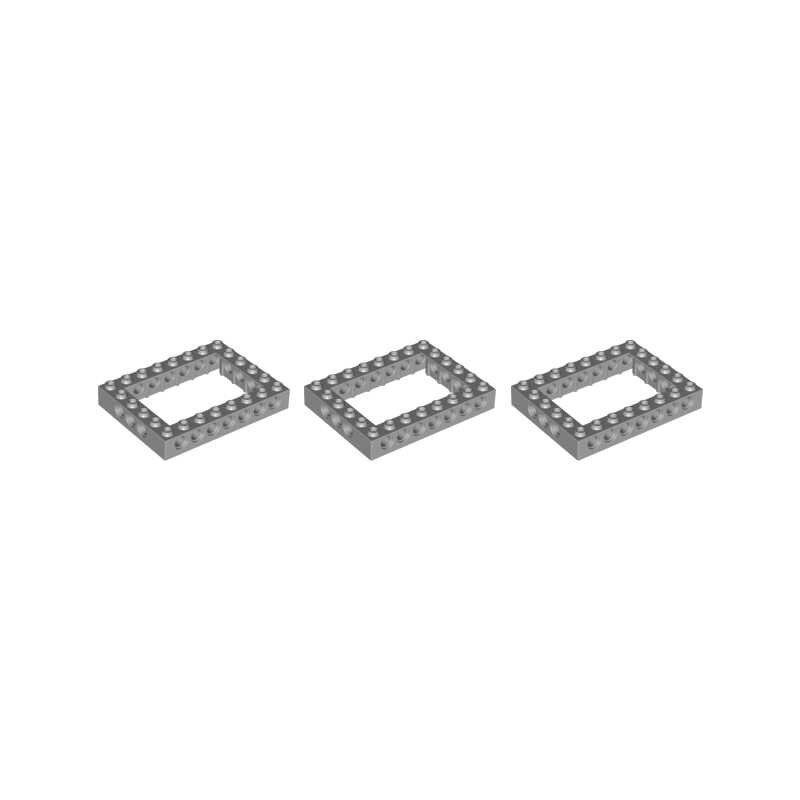 2 sztuk/partia Technic serii MOC cegły części wiązki 6*8 rama kwadratowe klocki DIY zabawki kompatybilny z 32532 cząstek Techinc