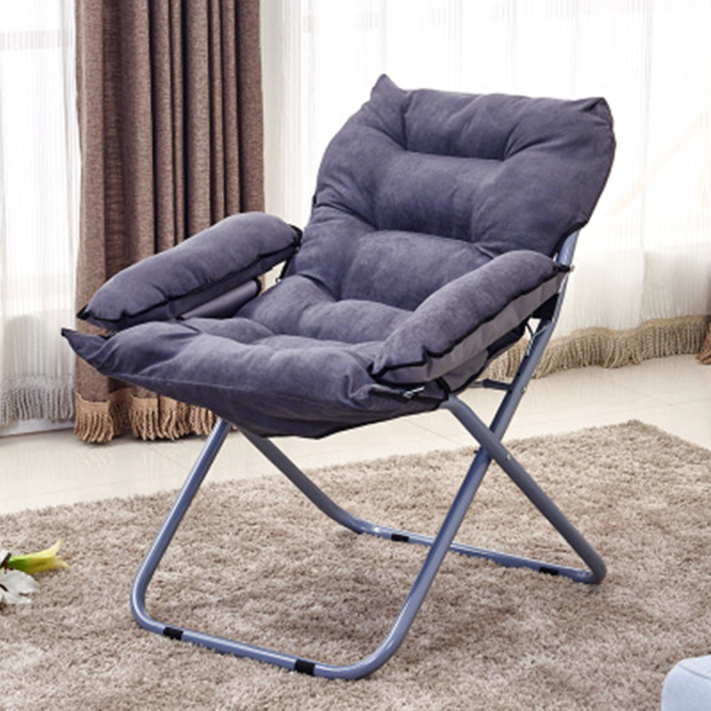 Simple Cloth Art Office Balcony Lunch Lounge Chair Single Creative Computer Chair Household Folding Lazy Chair