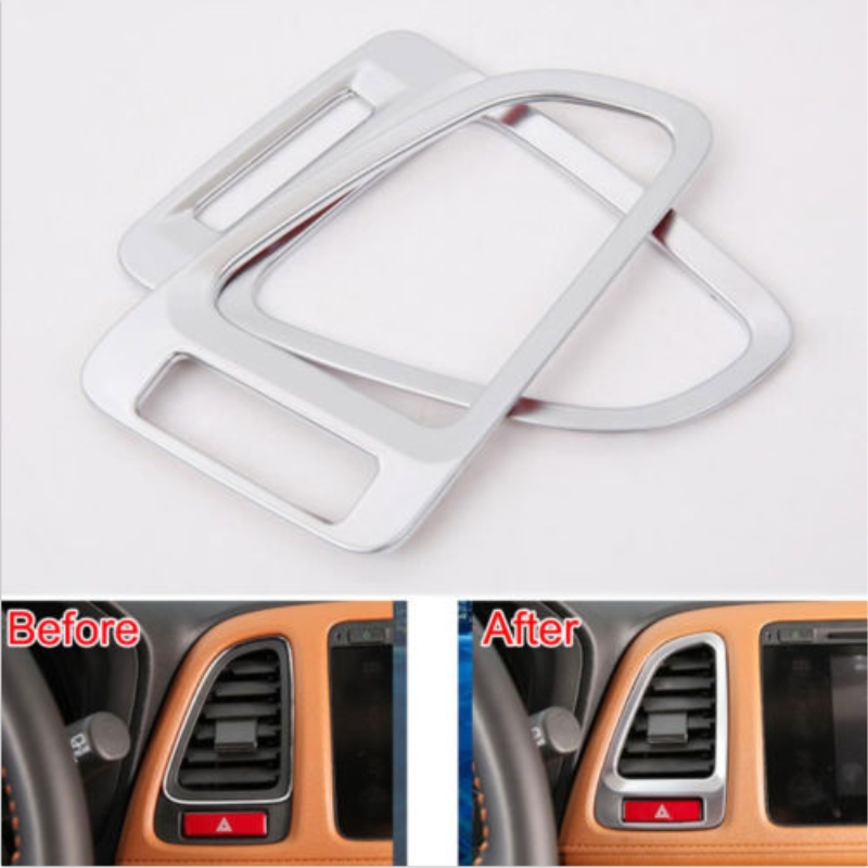 Car inner Decorate Dash Air Condition AC Vent Outlet Bezel Cover Molding Trim For Honda 2014-2017 HR-V Vezel Car Styling Covers