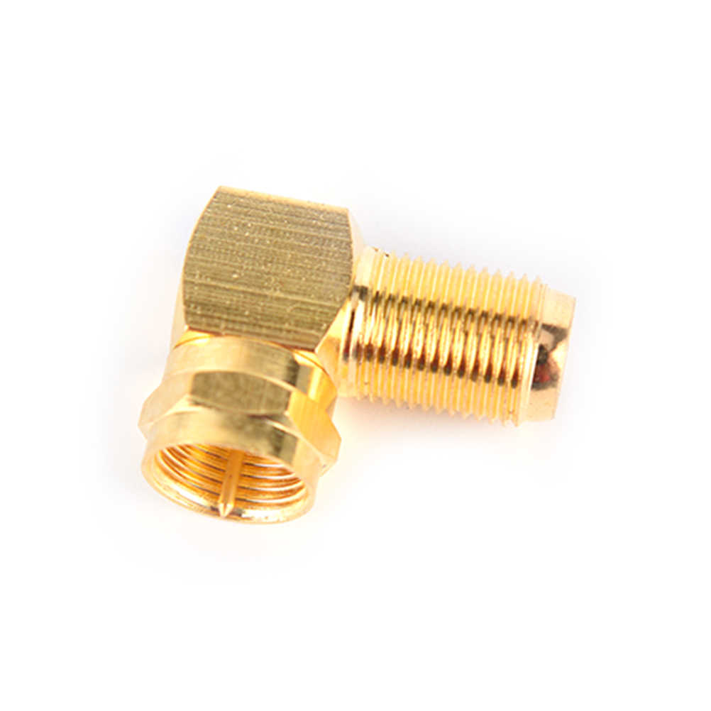 New 90 Degrees Right Angle RF SMA Adapter Brass Adapter RF SMA Male Jack To RF SMA Female Jack Screw Thread Connector