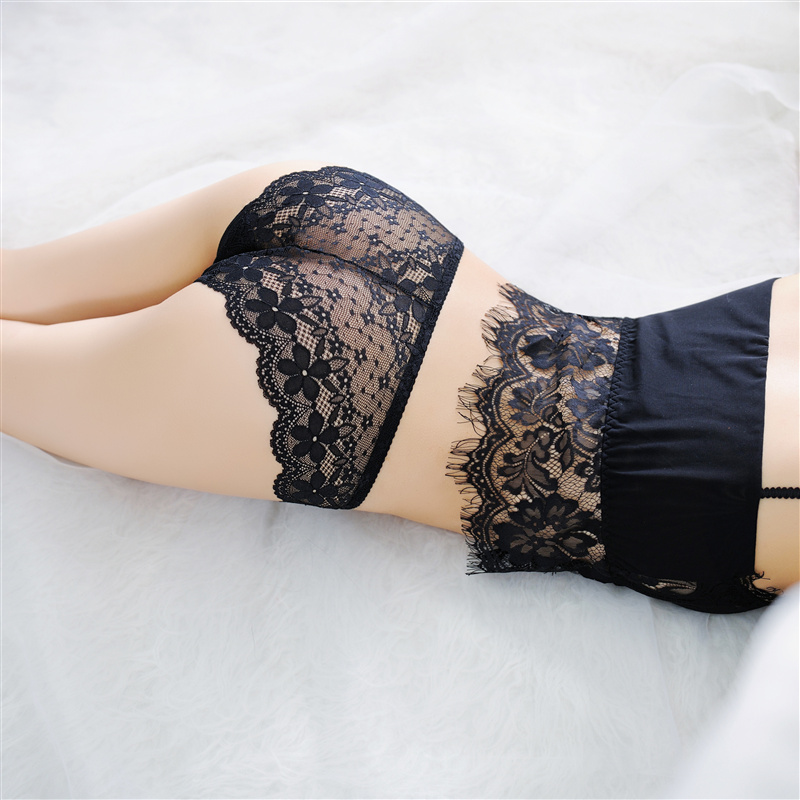 Lace Sexy Women Briefs Transparent Womens Panties Underwear Lingerie Female Breathable Seamless Panties Bow-knot Cute Underwear (2)