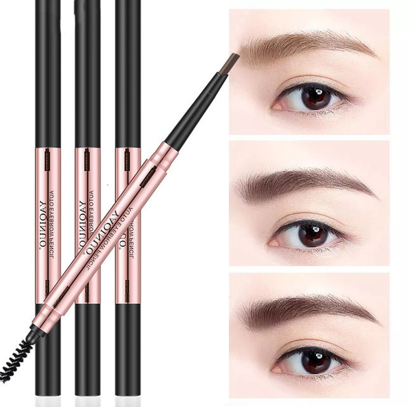 Eyebrow Pencil (Brow Pencil + Eyebrow Card) Double Head Automatic Waterproof And Sweatproof Best Selling 2019 Products