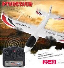 Tamanho grande fixo asa rc planador fx818, 2.4g 4ch 48cm até 200m material epp 25 avião rc antiqueda-40min, brinquedo vs f939