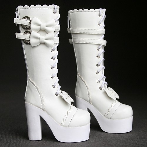 [wamami] 49# White 1/4 BJD MSD DZ Dollfie Synthetic Leather Boots/Shoes-6.0cm free shipping sw luts as dz bjd sd boots bjd shoes
