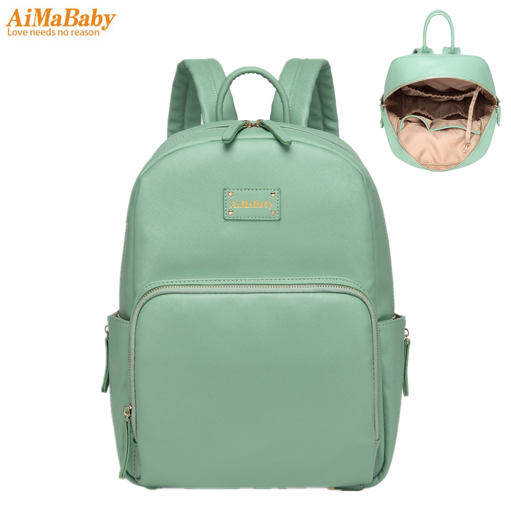 amababy diaper bag backpack pu leather baby bag organizer large nappy bags mother maternity bags. Black Bedroom Furniture Sets. Home Design Ideas