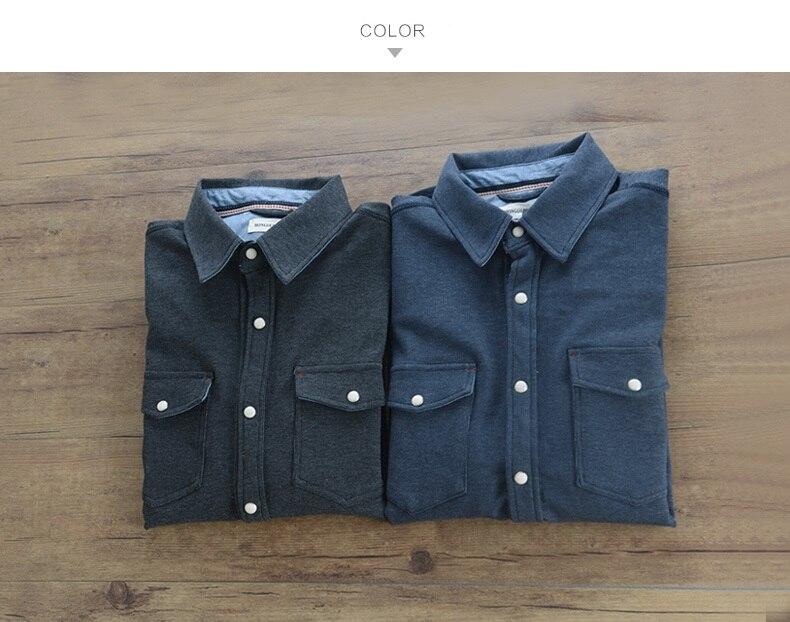 2017 Jesień z długim rękawem koszula sztruks mężczyzna  hSGlA