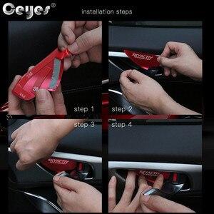 Image 5 - Ceyes garniture de bol pour poignée de porte de voiture, Chrome, technologie CX 5 CX5 CX3 6 Axela, poignée de porte boîtier à autocollants pour Mazda Skyactiv