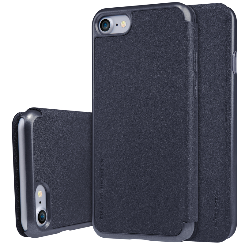 Nillkin Sparkle Series Super Thin PU leather flip cover Hard PC Plastic Back Cover case for