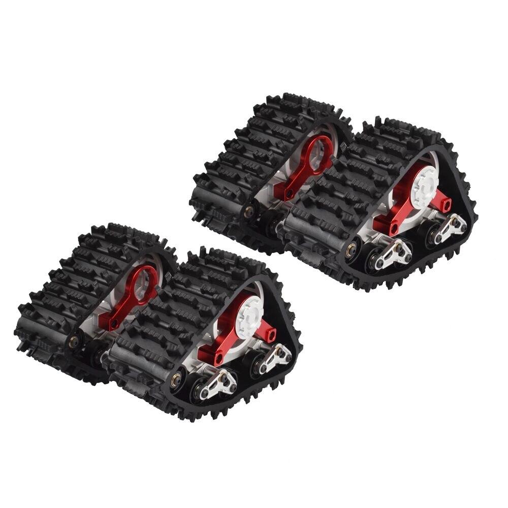 2 piezas RC 1:10 huellas de neumático de nieve por 1/10 RC AXIAL SCX10 espectros Rock Crawler camión