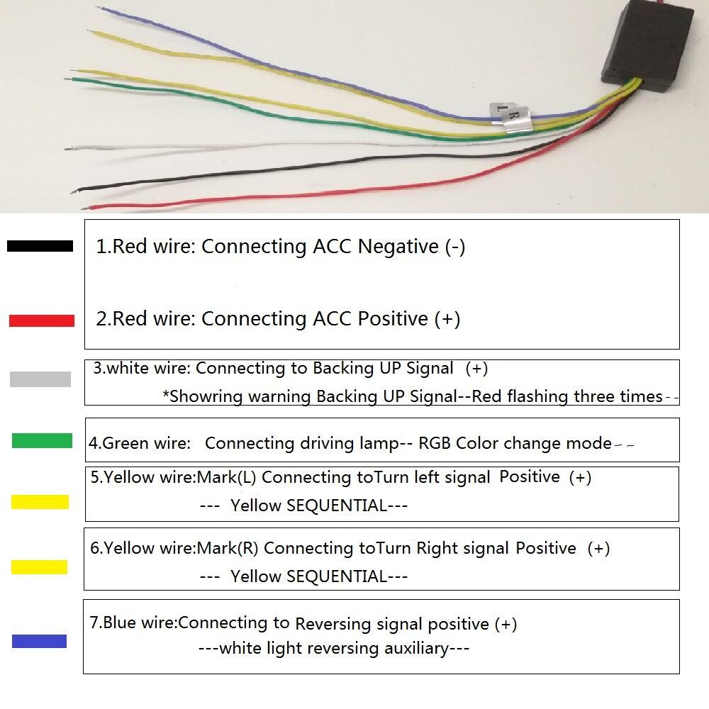 1 Set 120CM Flexible RGB Multi color Car Rear Tail Box Dynamic ...