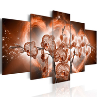 5pcs Full Square Round Drill 5D DIY Diamond Painting Orchid Flower Multi Picture Combination 3D Embroidery