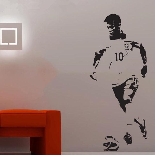 Large Neymar Brazil Football Soccer Wall Art Decal Wall Sticker Wall  Stickers For Kids Rooms Adesivo De Parede Infantil