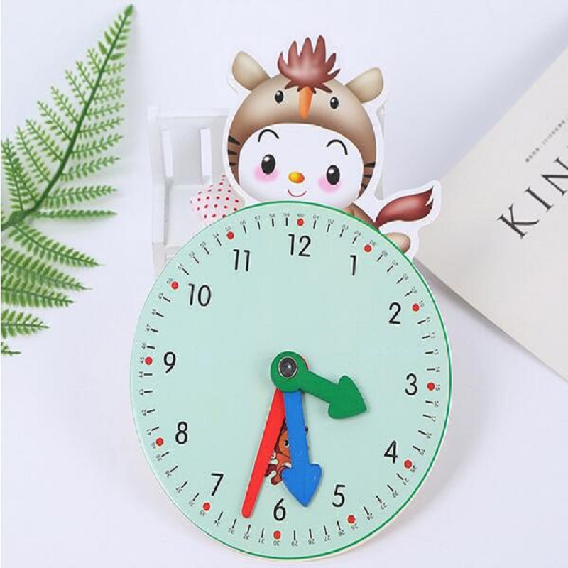 Montessori Parenting Wooden Clock Toys Numbers Time Learning Education Fun Funny Gadgets Interesting Toys For Children Kid Gift