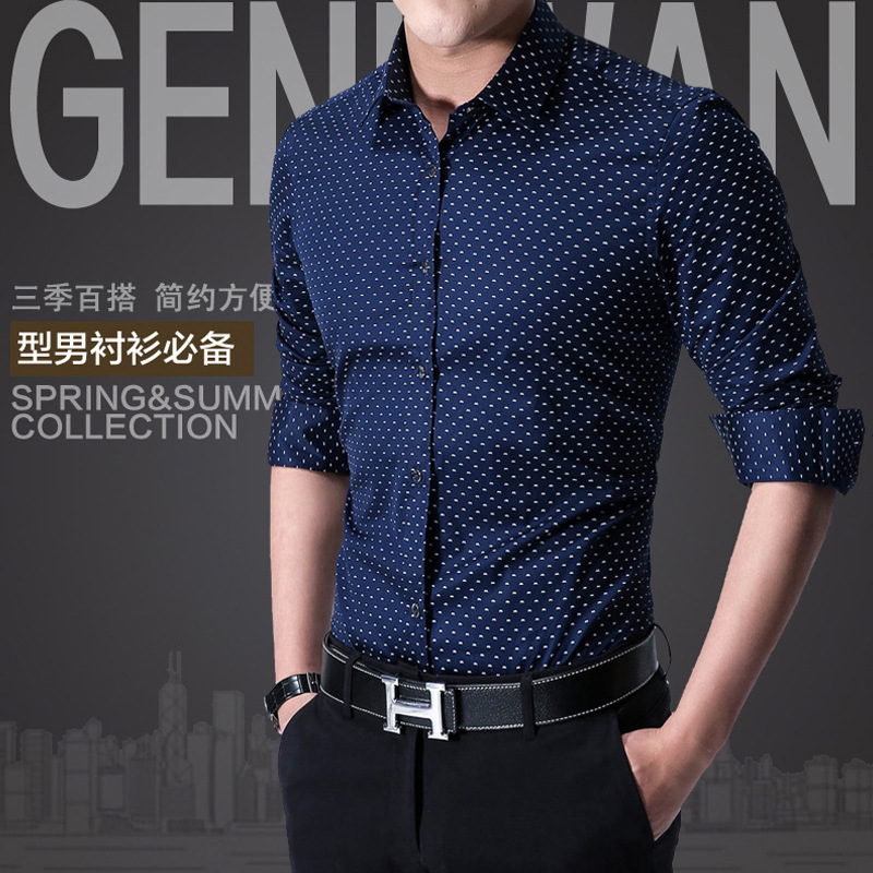 2018 New Slim Fit Men Long Sleeve Shirts Fashion Men Clothes Mencamisa Masculina Formal Men Shirt Social Plus Size Shirts 26 ...