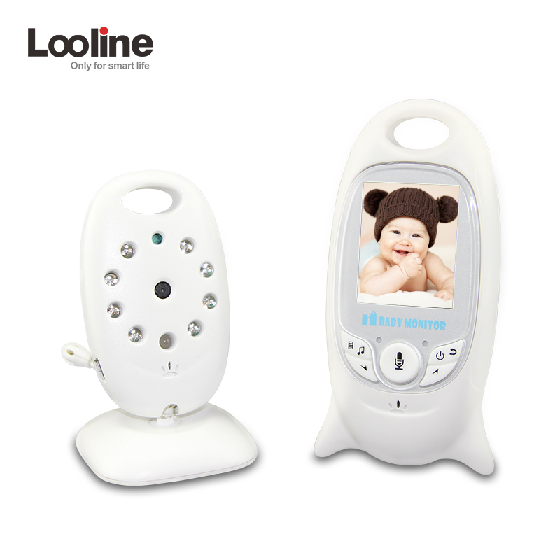 Wireless Video 2.0 inch Color Baby Monitor Security Camera 2 Way Talk NightVision IR LED Temperature Monitoring with 8 Lullaby wireless video baby monitor 2 4 inch color security camera 2 way talk nightvision ir led temperature monitoring with 8 lullaby
