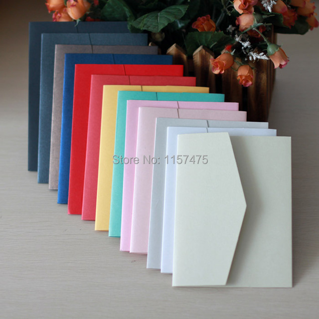 hi5001 hot sale optional colors pocket fold envelope for diy