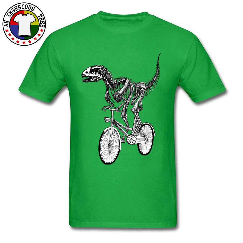 الهيكل العظمي ديناصور الأحفوري السائق رايدر دورة التي شيرت الجوراسي بارك مضحك مصمم الطباعة العادي قمم القمصان للرجال صالح سليم تيز