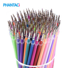 100 pcs/lot 100 Colors Gel Pen Refill Multi Colored Painting Gel Ink Ballpoint Pens Refills Writing Student School Stationery(China)