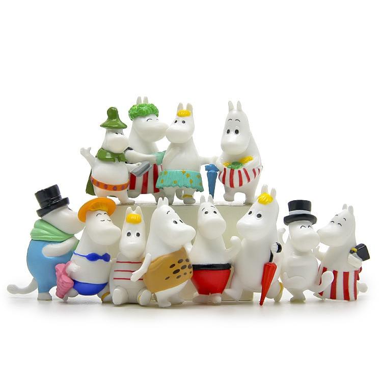 Moomin Valley Moomintroll /& Snufkin Resin Figure Toy Gift Home Garden Decor 4CM