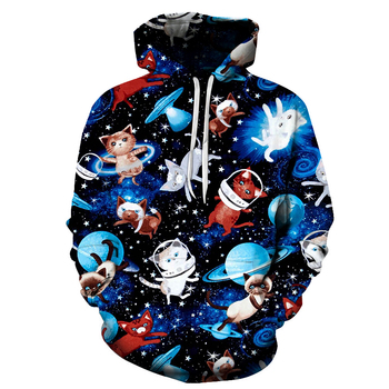 Galaxy Cat 3D Printed Brand Casual Hoody Sweatshirt Men Tracksuit Hoodie Pullover Streetwear Coat Unisex DropShip ZOOTOPBEAR New