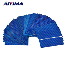 AIYIMA 100Pcs Solar Panel Solar Cell 0.5V 0.35W 39x52MM Color Crystal Module DIY Solar Battery Charger Sun Power Bank
