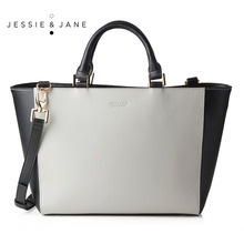 JESSIE JANE Designer Brand 2016 New Women s Top handle Split Leather Totes 1211