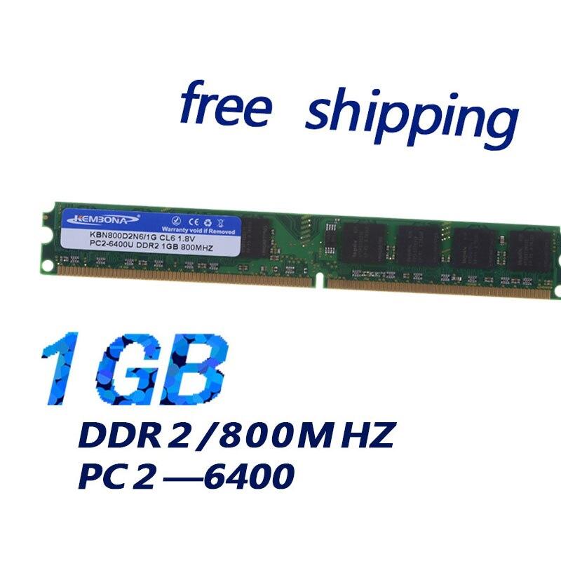 KEMBONA Support all motherboard desktop computer memoria RAM DDR2 800Mhz 1Gb /Desk computer ram DDRII 800 1G support