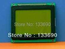 1 unids/lote 12864 módulos LCD de punto gráfico 128*64 128X64, LCD verde amarillo,.KS0107/KS0108 o módulo equivalente tamaño 78x70mm