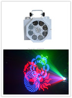 Laser màu xanh lá cây ánh sáng màu đỏ diode Laser: DPSS, G532nm/50 mw R650nm/150 MW + 8*3 W LED Gobo điểm nh