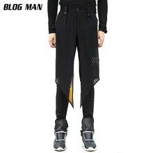 M-6XL  2017 Big yards men's Autumn male slim casual pants taper pants harem   male boot cut jeans culottes