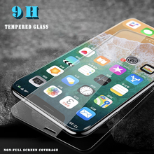 Ultra-thin Tempered Glass For iPhone X XR XS Max Screen Protector Protective Film For iPhone 8 7 6 6S 5 5S SE 4 Protection Glass стоимость