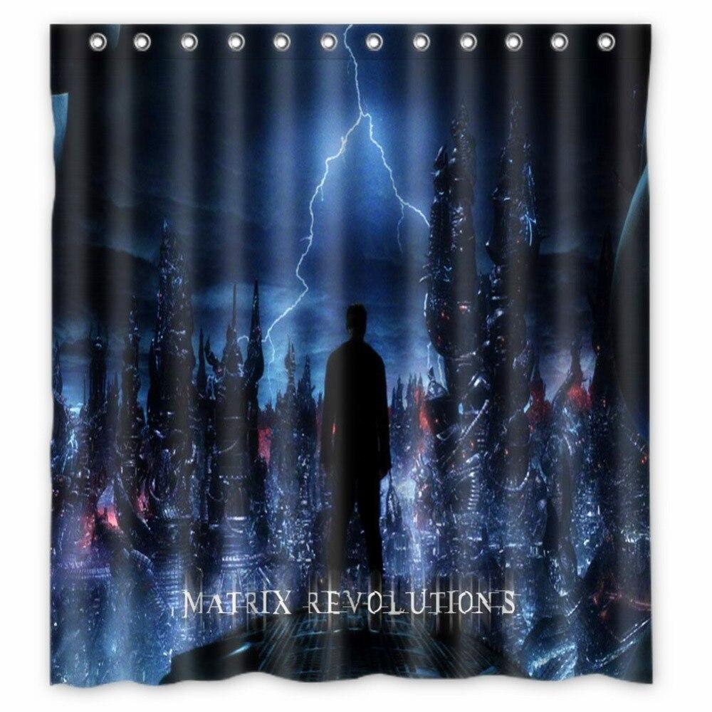 Vixm Movie Poster Shower Curtains Matrix Revolutions Fabric Bathroom 66x72 Inch In From Home Garden On Aliexpress