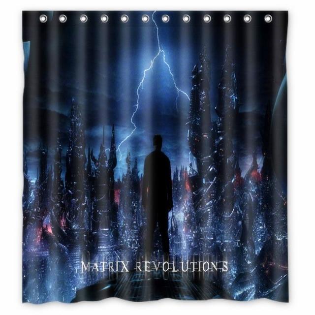 Vixm Movie Poster Shower Curtains Matrix Revolutions Fabric Bathroom 66x72 Inch