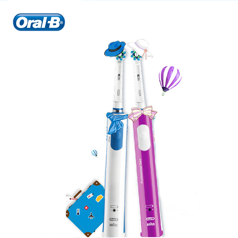 Oral B 3D Electric Toothbrush Pro600 Plus 2 Mins Timer Rechargeable Teeth Brush Heads For Adult image