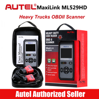 AUTEL MaxiLink ML529HD Trucks OBD2 Scanner Heavy Light Truck Code Reader Heavy Duty Diagnostic Tool Trucks Scaner Diagnostics
