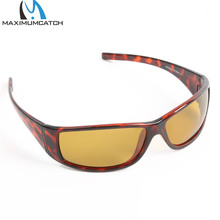 Maximumcatch Tortoise Frame Fly Fishing Polarized Sunglasses Gray/Yellow/Brown Fishing Sunglasses