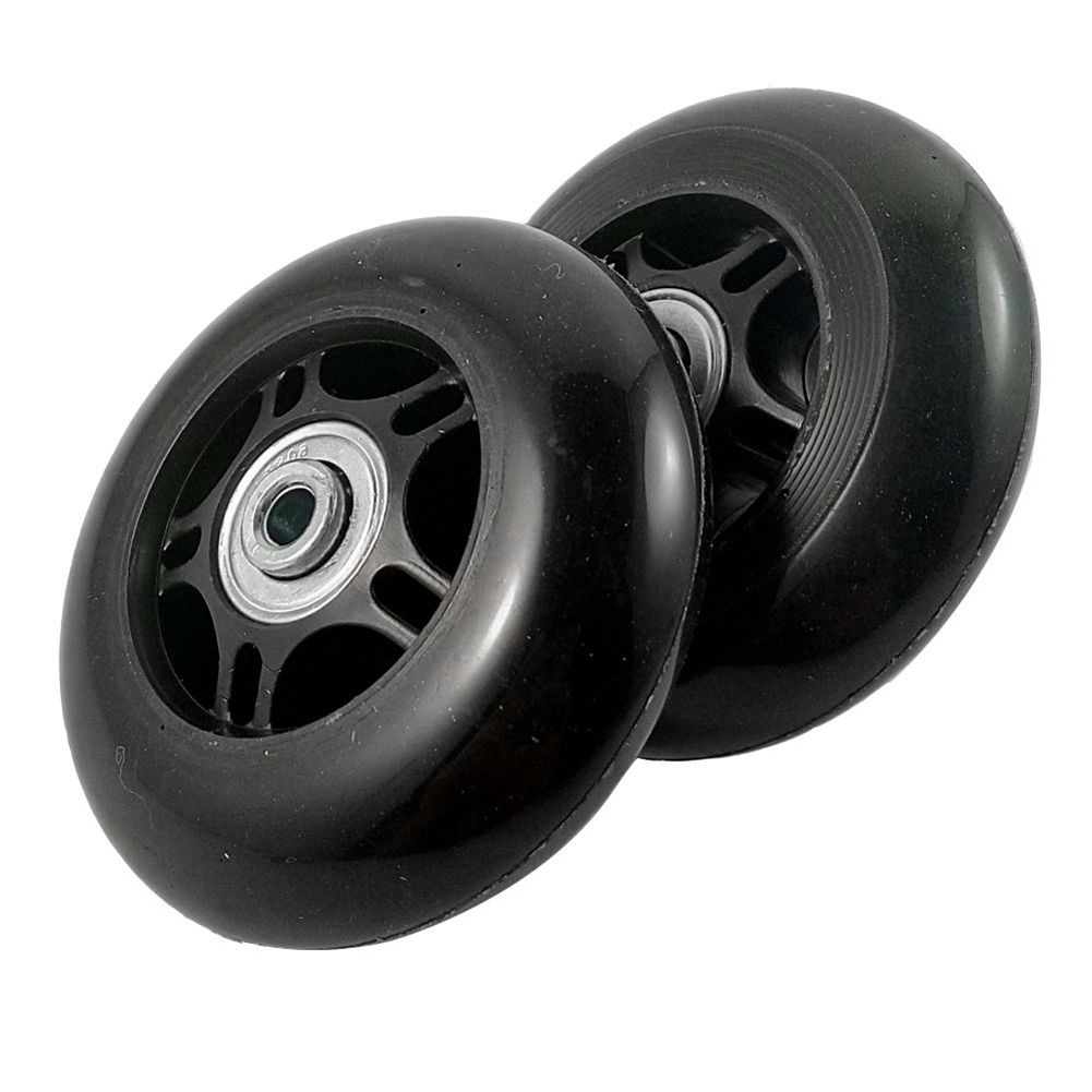 WCS-2 Set Luggage Suitcase Replacement Wheels OD 80mm