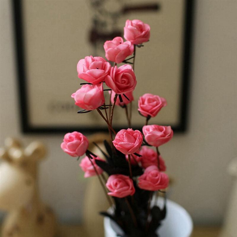 ramo cabezas de flor artificial falsa simulacin pe flor de la flor para la boda centros de mesa decorativas flores artific