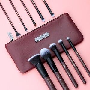 Image 2 - Jessup Makeup Brushes Set & Cosmetic Bag Dropshipping pincel maquiagem Concealer Eyelashes Eyeshadow brushes 10pcs T259 CB004