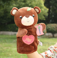 Candice guo plush toy stuffed doll cartoon metoo cute bear soft hand puppet bedtime story pacify educational baby birthday gift