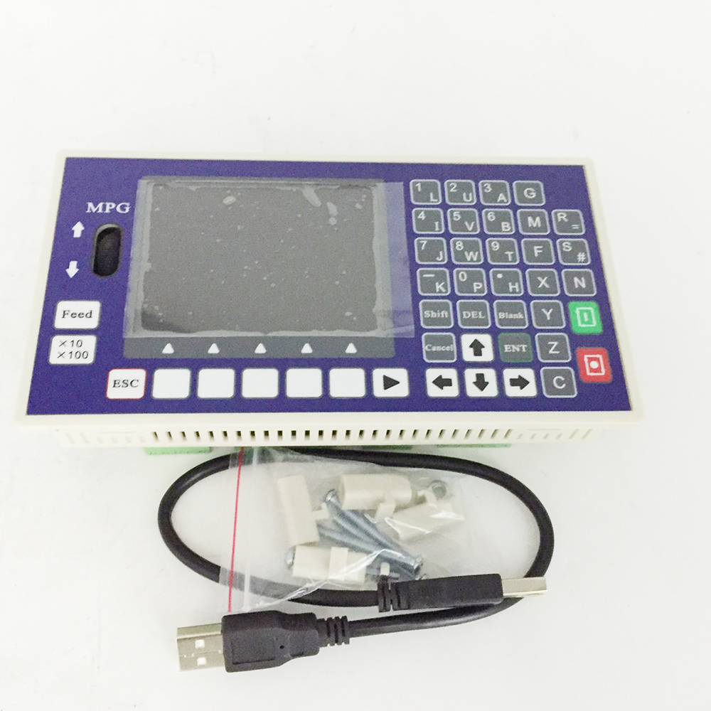цена на 1 Axis CNC controller 16DI 8DO 3.5inch TFT 400KHz Servo Stepper CNC Controller for CNC Lathe Milling Machine