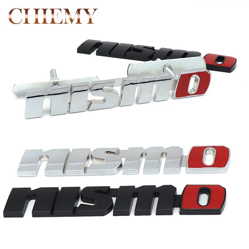 Metal NISMO Auto Car Stickers Front Grille Badge Emblem Car Styling For Nissan Tiida Teana Skyline Juke X-trail Almera Qashqai yuzhe 2 front seats auto automobiles car seat cover for nissan qashqai note murano march teana tiida x trail car accessories