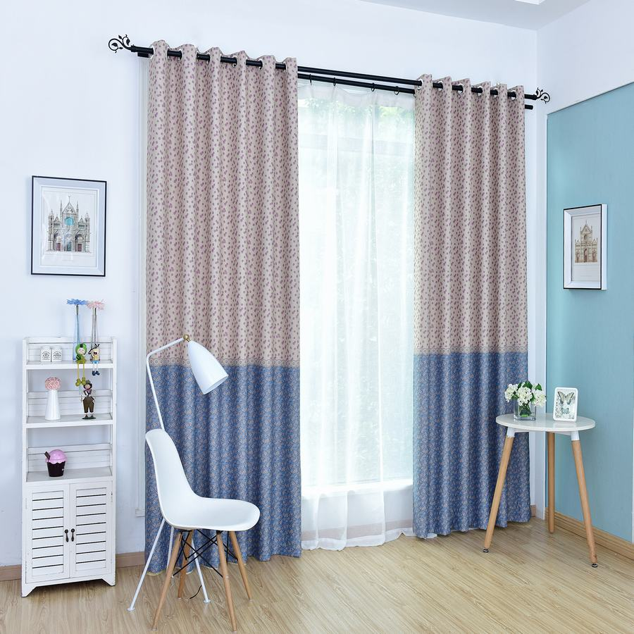 Curtain For Double Window Us 34 77 High End Small Floral Print High Blackout Rate Window Curtain For Living Room Children S Bedroom Double Side Print 1pcs Price In Curtains