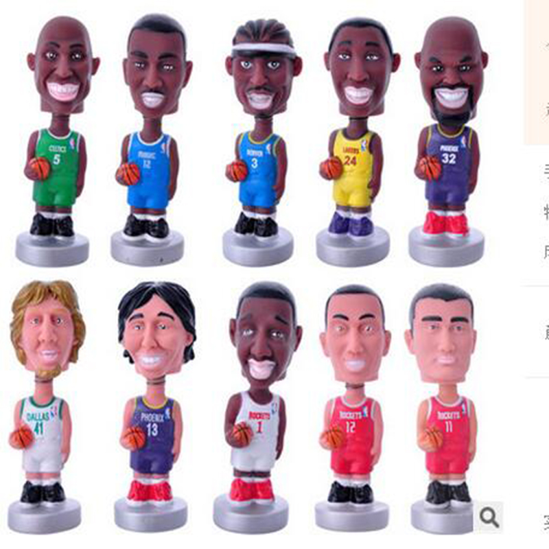 new style 10pcs/sets BasketballNBA Star Action Figure High Quality Bobblehead PVC Model Toys Collections Dolls 10.5 CM Gift Boys