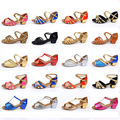 Salón de baile de Salsa tango zapatos de baile latino zapatos de tacón bajo de baile para niños niños de las muchachas de las señoras envío gratis en stock