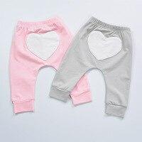INS fashion new cotton children's  harem pants Casual love pattern PP pants baby boy girl capris leggings