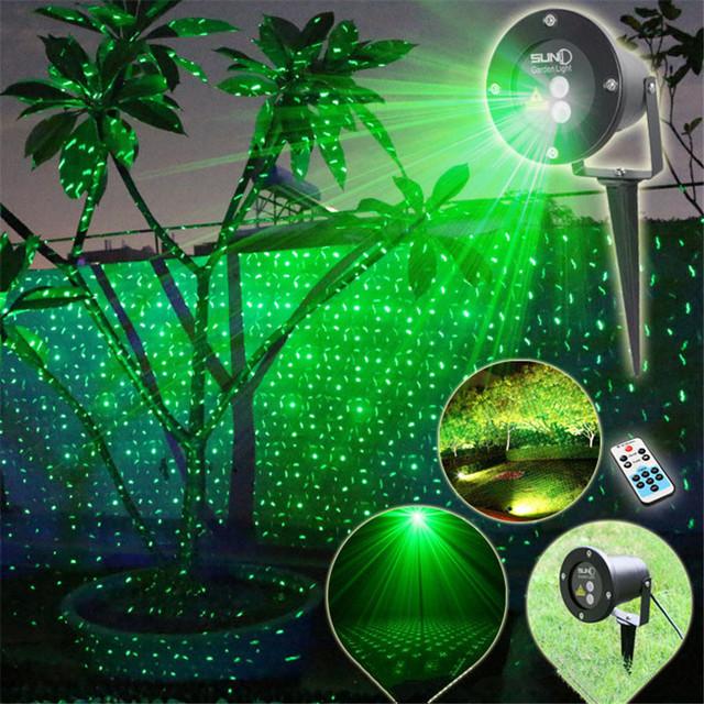 1X2016 Cor Verde Projetor Laser Estrela Cheia de Céu AC100-240V EUA/UE Plug-in de Laser Natal Lâmpada de projeção com Controle Remoto RF